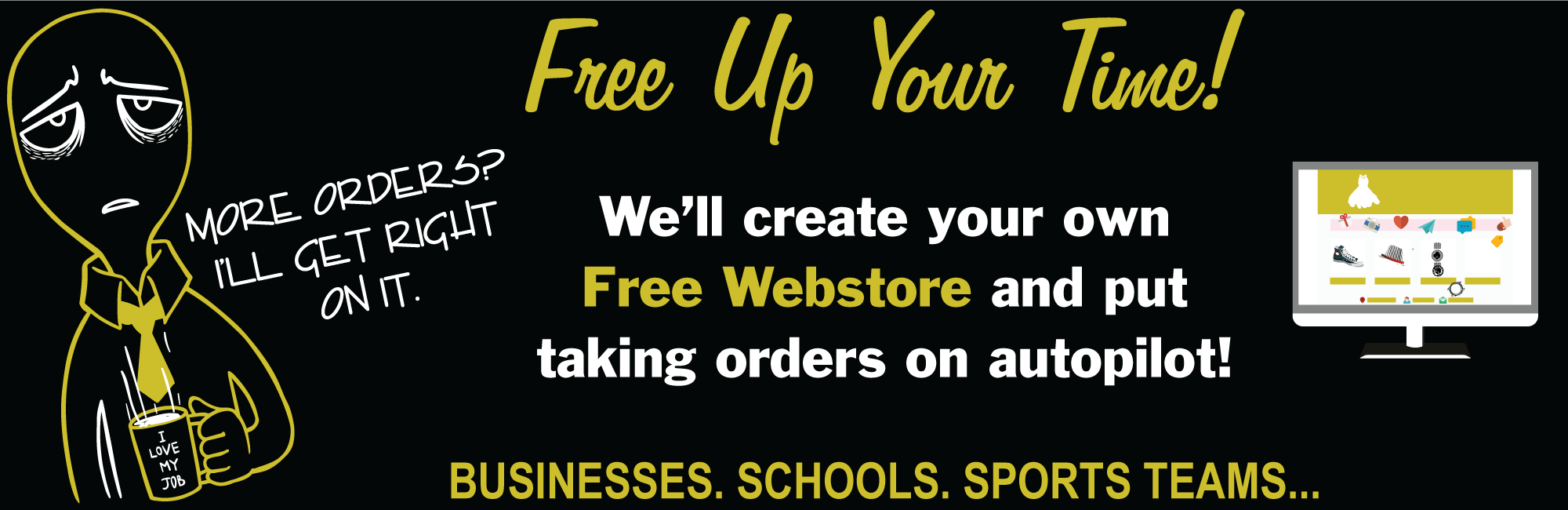 Free Online Webstore for Schools, Sports Teams, Businesses and more in Joliet, Shorewood, Plainfield, Crest Hill, Bolingbrook and Romeoville.